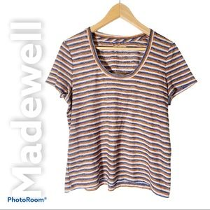 Madewell M alto striped scoop neck tee T-shirt